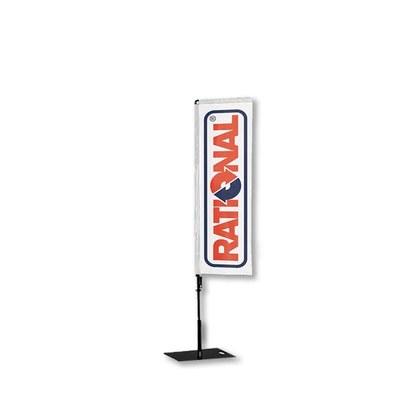Beachflag - SQUARE - Größe M inkl. Tragetasche&Bodenplatte 400x400x5 mm inkl. Fahne in Rechteckform - Beachflag-Square-1550-Bodenplatte