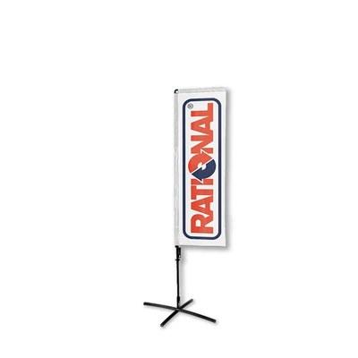 Beachflag - SQUARE - Größe M inkl. Tragetasche & Kreuzfuss inkl. Fahne in Rechteckform - Beachflag-Square-1550-Kreuzfuss