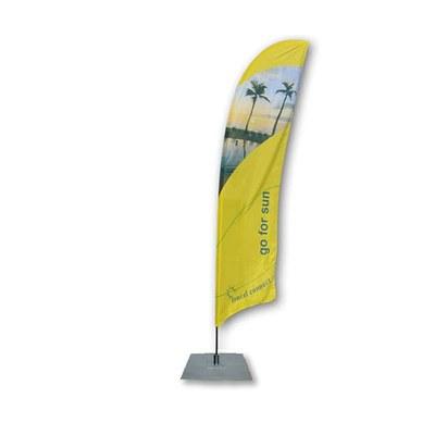 Beachflag - STANDARD - Größe L inkl. Tragetasche&Bodenplatte 400x400x4 mm MIT Rotator - inkl. Fahne in Standardform - Beachflag-Standard-4100-Bodenplatte-Rotator