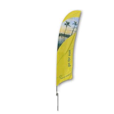 Beachflag - STANDARD - Größe L inkl. Tragetasche & Erddorn MIT Rotator - inkl. Fahne in Standardform - Beachflag-Standard-4100-Erdspiess-Rotator