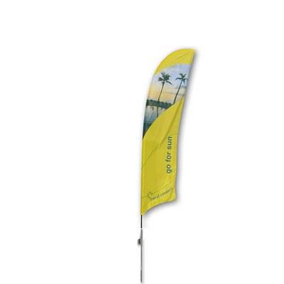 Beachflag - STANDARD - Größe M inkl. Tragetasche & Erddorn Größe M (Höhe 3,10 mtr) - Beachflag-Standard-3100-Erdspiess