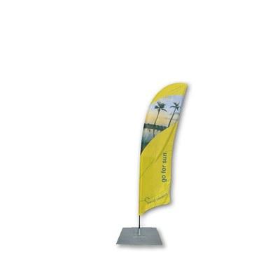 Beachflag - STANDARD - Größe S inkl. Tragetasche&Bodenplatte 300x300x3 mm Größe S (Höhe 2,50 mtr) - Beachflag-Standard-2500-Bodenplatte