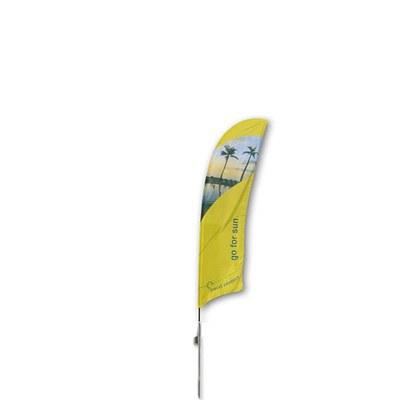 Beachflag - STANDARD - Größe S inkl. Tragetasche & Erddorn inkl. Fahne in Standardform - Beachflag-Standard-2500-Erdspiess