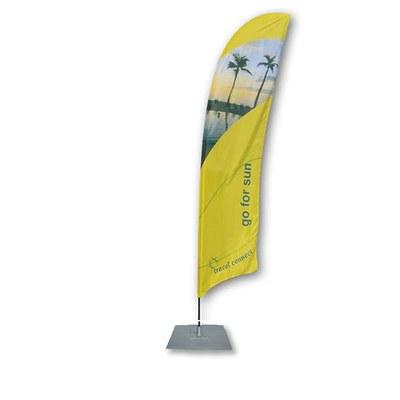 Beachflag - STANDARD Ausführung: Alumast als Stecksystem Größe XL (Höhe 5,20 mtr) - Beachflag-Standard-5200-Bodenplatte
