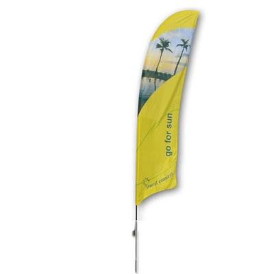 Beachflag - STANDARD - Größe XL inkl. Tragetasche & Erddorn inkl. Fahne in Standardform - Beachflag-Standard-5200-Erdspiess