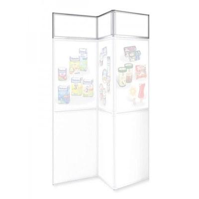 Blendenreihe 3-tlg. für Faltwand inkl. 3x Leichtschaumpaneele 700x270x5 mm ALLEGRO Faltdisplay - Zubehör - ALLEGRO Blende 3-tlg mit Paneelen