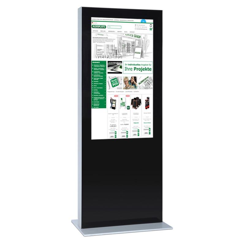 Digitale Infostele einseitig 85 Zoll schwarz.jpg