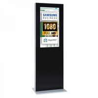 Digital Signage Digitale Info-Stele doppelseitig für den Inneneinsatz - Größe: 32 Zoll - Full HD Farbe: schwarz - Digitale Infostele doppelseitig 32 zoll schwarz