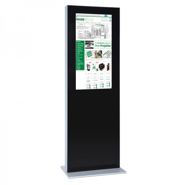 digitale infostele einseitig 32 zoll schwarz 1