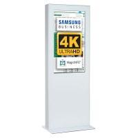 Digital Signage Digitale Info-Stele doppelseitig für den Inneneinsatz - Größe: 55 Zoll - 4K UHD Farbe: weiss - Digitale Infostele doppelseitig 55 zoll weiß 4K