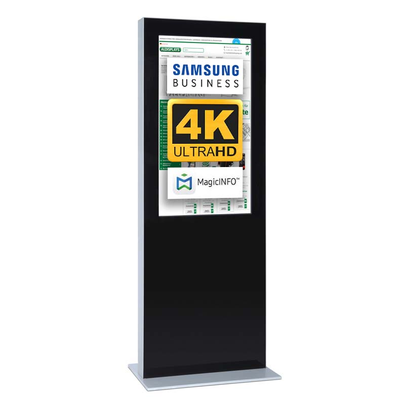 Digitale Infostele doppelseitig 43 zoll schwarz 4K.jpg