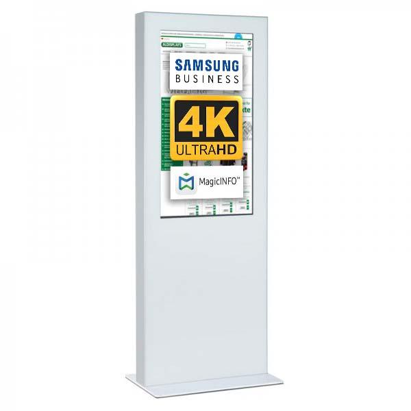 Digitale Infostele doppelseitig 49zoll weiß 4K.jpg