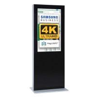 Digital Signage Digitale Info-Stele doppelseitig für den Inneneinsatz - Größe: 55 Zoll - 4K UHD Farbe: schwarz - Digitale Infostele doppelseitig 55 zoll schwarz 4K