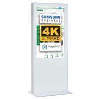 Digital Signage Digitale Info-Stele einseitig für den Inneneinsatz - Größe: 85 Zoll - 4K UHD Farbe: weiss - Digitale Infostele einseitig 85 zoll schwarz 4K