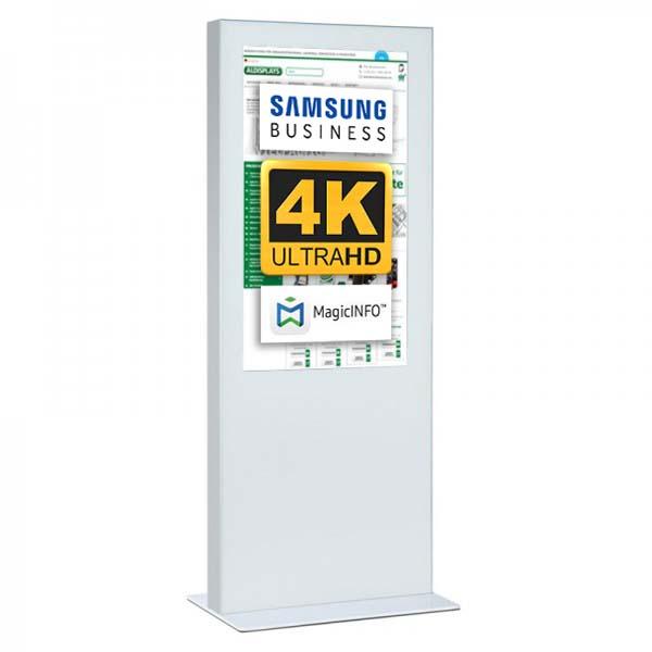 Digitale Infostele einseitig 65 zoll weiß 4K.jpg