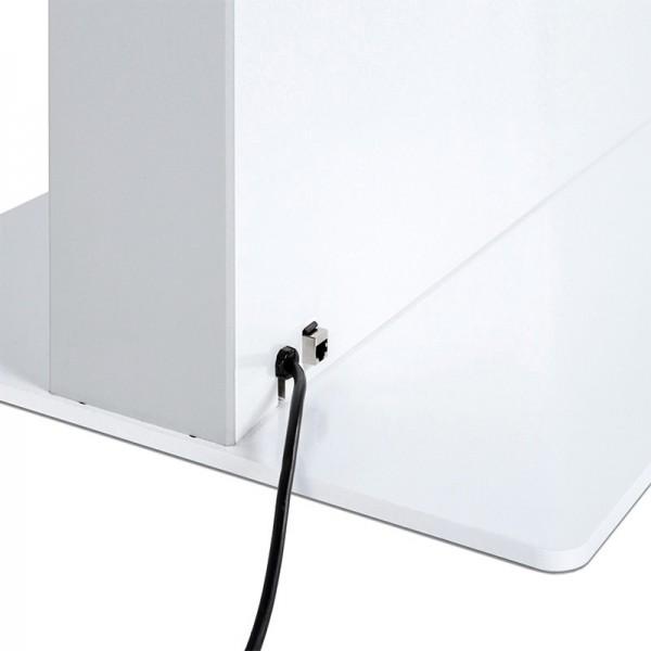 digitale infostele einseitig bodenplatte weiss 1 1