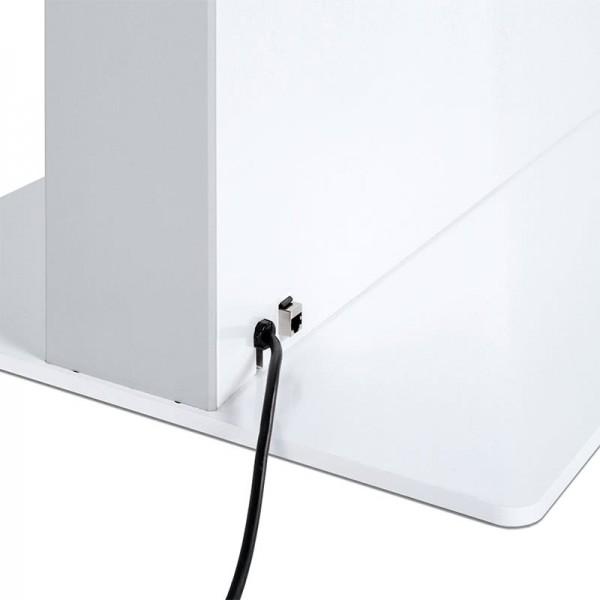 Digitale Infostele einseitig Bodenplatte weiß
