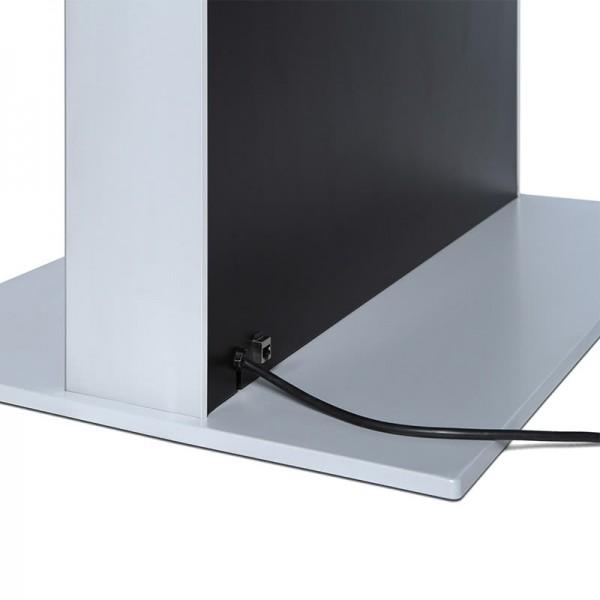 digitale infostele einseitig bodenplatte schwarz 2