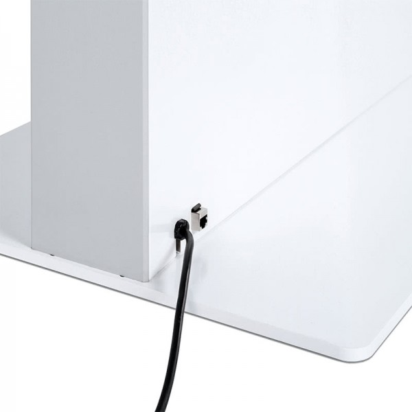 digitale infostele einseitig bodenplatte wei  2