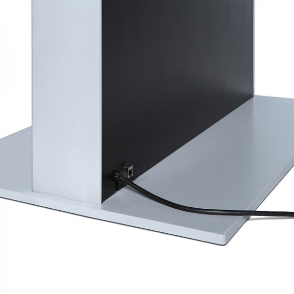 digitale infostele einseitig bodenplatte schwarz 3