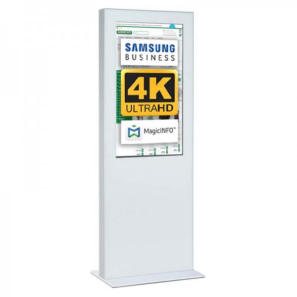 Digitale Infostele Slim einseitig 55 zoll weiss 4K.jpg