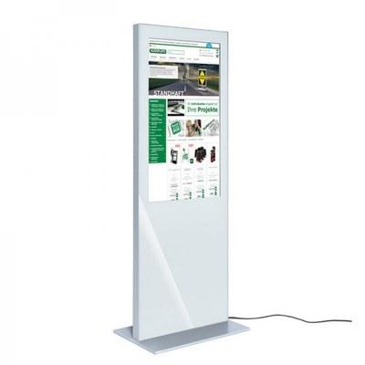 Digitale Info-Stele SLIM Bautiefe ca. 72 mm - einseitig 32 Zoll - digitale infostele slim einseitig 32 zoll weiss 1