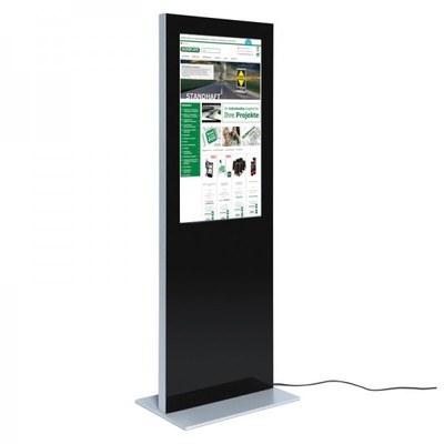 Digitale Info-Stele SLIM Bautiefe ca. 72 mm - einseitig 32 Zoll - digitale infostele slim einseitig 32 zoll schwarz