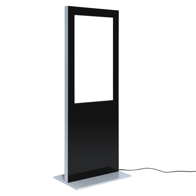 Digitale Infostele SLIM einseitig schwarz neutral.jpg
