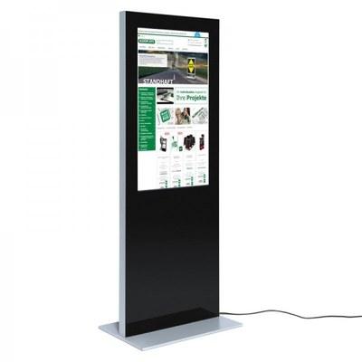 Digitale Info-Stele SLIM für den Inneneinsatz - Größe: 43 Zoll Farbe: schwarz - digitale infostele slim einseitig 43 zoll schwarz 1