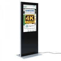 Digital Signage Digitale Info-Stele SLIM für den Inneneinsatz - Größe: 49 Zoll - 4K UHD Farbe: schwarz - Digitale Infostele Slim einseitig 49 zoll schwarz 4K