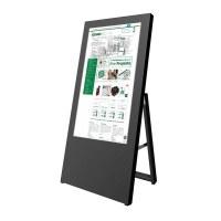 Digital Signage Digitaler Kundenstopper für den Inneneinsatz - Größe: 32 Zoll Ausführung: schwarz - einseitig - Digitaler Kundenstopper 32 Zoll schwarz2