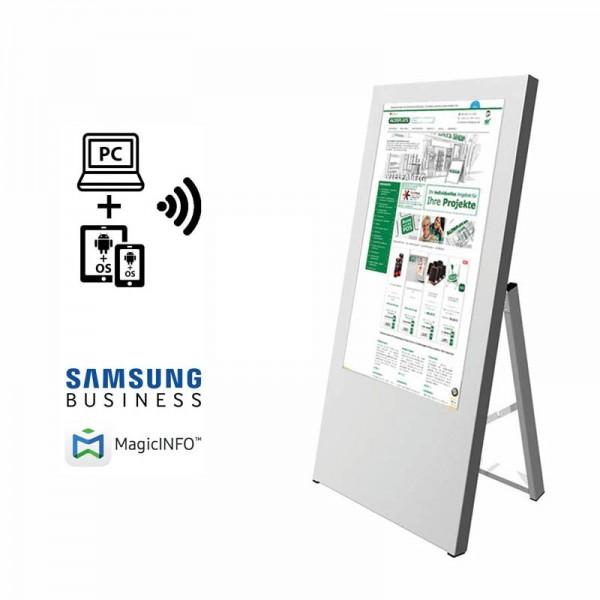 digitaler kundenstopper 32 zoll start m logo 1