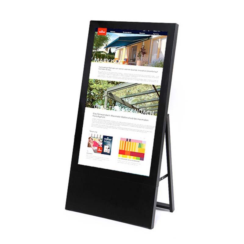 Digitaler Kundenstopper 43 Zoll schwarz.jpg