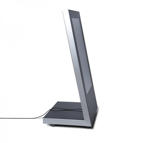 digitaler kundenstopper premium seitenansicht
