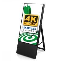 Digital Signage Digitaler Kundenstopper TrendLine für den Inneneinsatz - Größe: 43 Zoll - 4K UHD Ausführung: schwarz - einseitig - Digitaler Kundenstopper TRENDLINE 43 4K swz