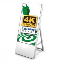 Digital Signage Digitaler Kundenstopper TrendLine für den Inneneinsatz - Größe: 43 Zoll - 4K UHD Ausführung: weiss - einseitig - Digitaler Kundenstopper TRENDLINE 43 4K