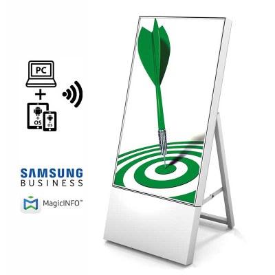 Digitaler Kundenstopper TrendLine für den Inneneinsatz - Größe: 43 Zoll Ausführung: weiss - einseitig - DKS Trendline ws