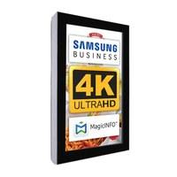 Digital Signage Digitales Info-Display - Hochform. einseitiger 49 Zoll-Bildschirm - schwarz - 4K UHD zur Wandmontage - Digitale Info Display Hochformat 49er 4K