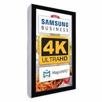 Digital Signage Digitales Info-Display - Hochform. einseitiger 55 Zoll-Bildschirm - schwarz - 4K UHD zur Wandmontage - Digitale Info Display Hochformat 55er 4K