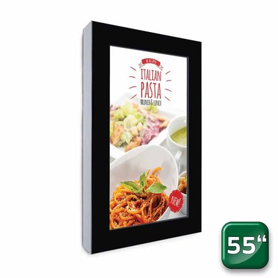 Digitales Info-Display - Hochformat einseitiger 55 Zoll-Bildschirm - schwarz 43 Zoll - Digitales Info-Display Hochformat 55