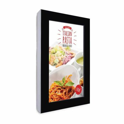 Digital Signage Digitales Info-Display - Hochform. einseitiger 55 Zoll-Bildschirm - schwarz zur Wandmontage - digitales-info-display-hochformat-blanko