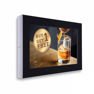 Digital Signage Digitales Info-Display - Querform. einseitiger 32 Zoll-Bildschirm - schwarz zur Wandmontage - digitales-info-display-querformat
