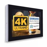 Digital Signage Digitales Info-Display - Querform. einseitiger 49 Zoll-Bildschirm - schwarz - 4K UHD zur Wandmontage - Digitale Info Display Querformat 49er 4K