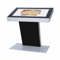 Digital Signage Digitales Kiosk - Querformat einseitiger 43 Zoll-Bildschirm - schwarz incl. Samsung-LED Display für den 24/7-Einsatz - Digitales Kiosk