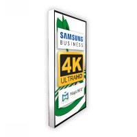 Digital Signage Digitales Poster TrendLine einseitiger 43 Zoll-Bildschirm - weiss - 4K UHD zur Wandmontage - inkl. Wandmontageset - Digitales Poster Wand ws 4K