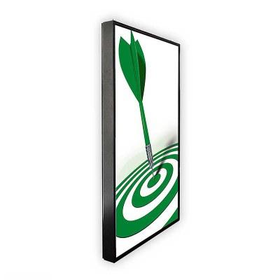 Digital Signage Digitales Poster TrendLine einseitiger 43 Zoll-Bildschirm - schwarz zur Wandmontage - inkl. Wandmontageset - digitales-poster-trendline-seite