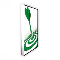Digital Signage Digitales Poster TrendLine einseitiger 43 Zoll-Bildschirm - weiss zur Deckenmontage - inkl. Deckenmontageset - digitales-poster-trendline-seite-ws