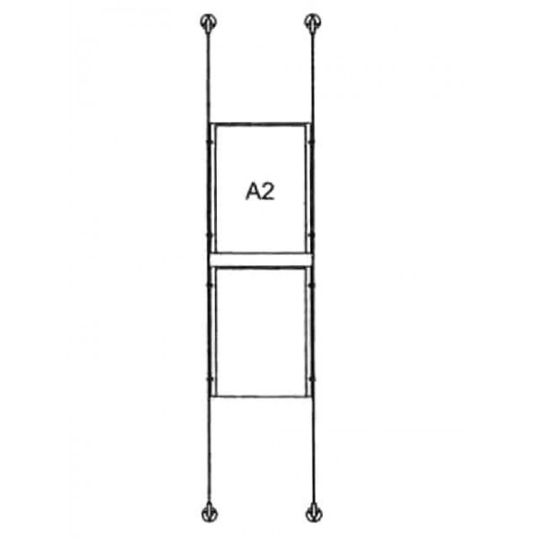 da-bd-2xa2 - drahtseilsystem 2x din a2 hochformat