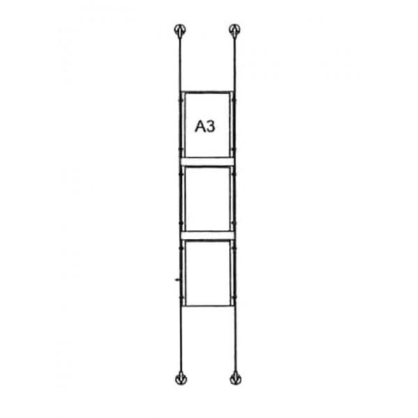 da-bd-3xa3 - drahtseilsystem 3x din a3 hochformat 1