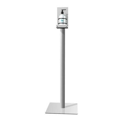 Hand-Desinfektionsständer ECO Gesamthöhe 1.150 mm - Gewicht ca. 8,3 kg Quadratische, silberne Bodenplatte (330x330x3 mm) - Hand-Desinfektionsständer ECO Detail1